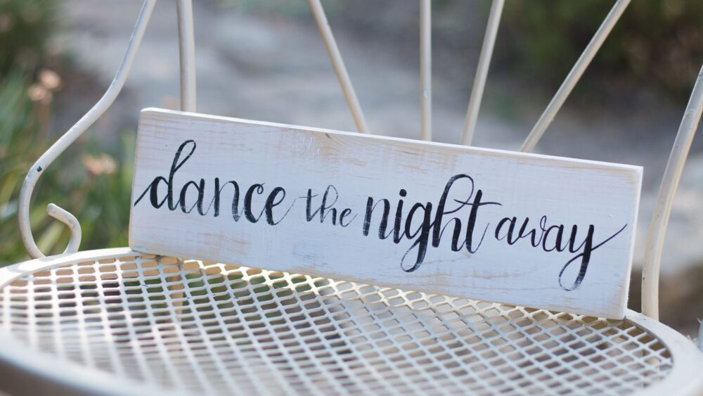 Dance The Night Away - Wedding Decorations Rustic Wood Sign Decor Romantic Party Reception