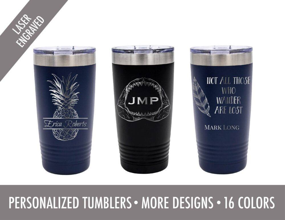 Personalized Stainless Steel Tumblers - 20 Oz Tumbler - Gift For Friend -Gift Co Worker - Engraved Tumbler