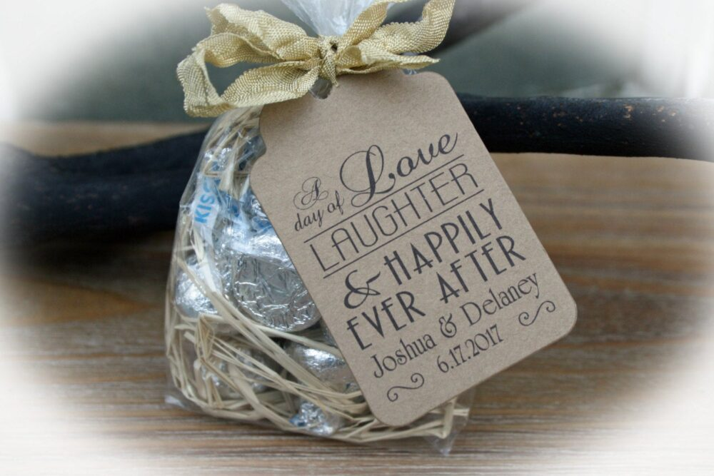 Wedding Favor Kit | Love Laughter Happily Ever After Favor Kits, Diy Idea - Choice Of 3 Tag Colors
