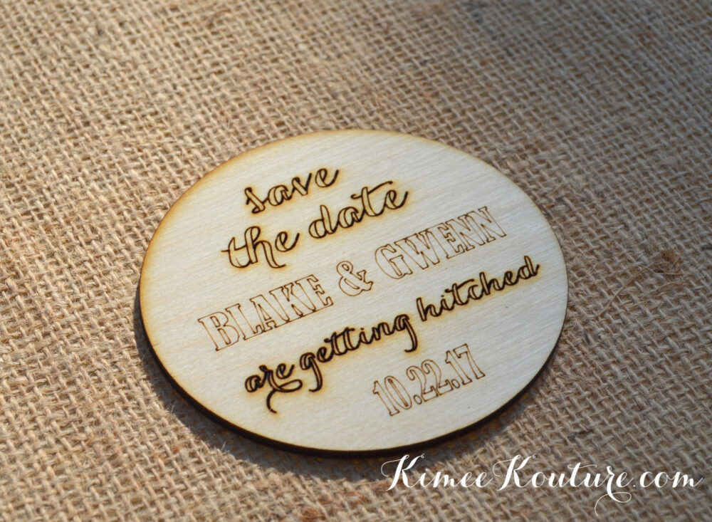 Save The Date Coaster. Rustic Save The Date Invitation. Wedding Set Of 9