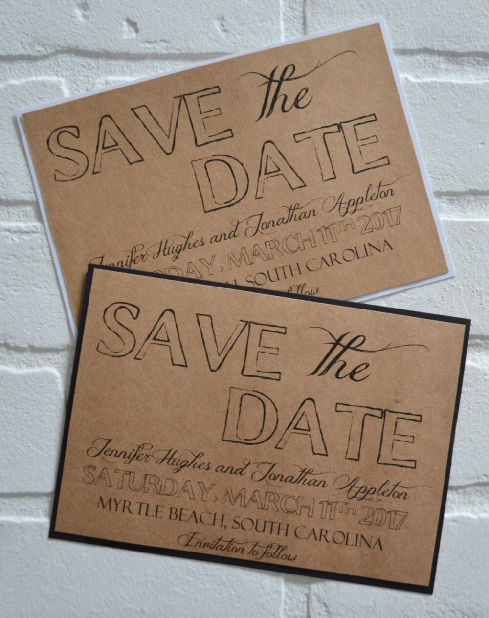 Save The Date Cards Kraft Rustic Save-The-Date Cards Black White Save Dates Outside Country Chic Classy Elegant Card