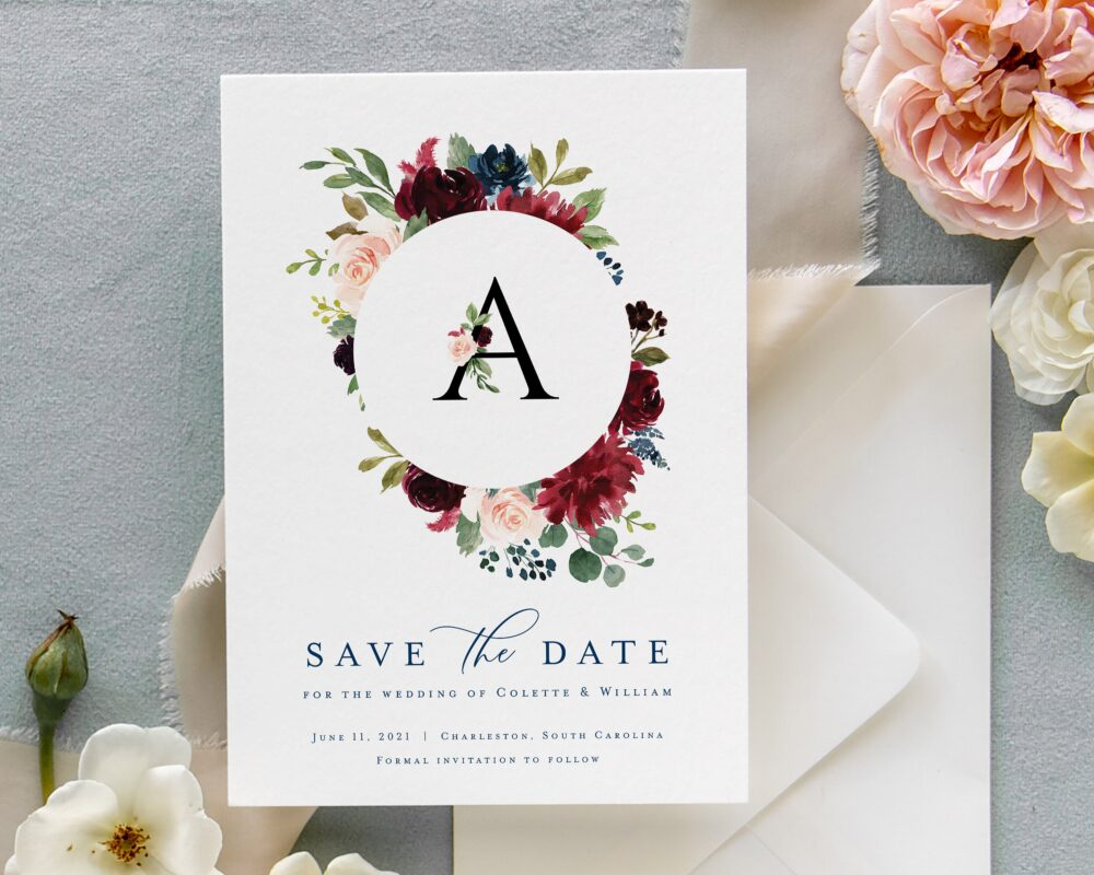 Rustic Save The Date, Printed Dates, Fall Wedding Date Template