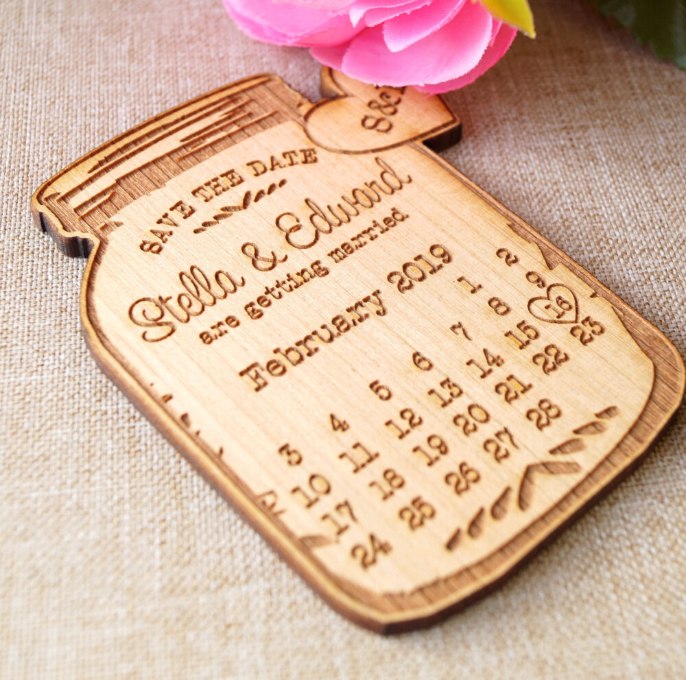 Save The Date Magnets, Wedding Save Dates, Announcement Calendar Wooden 10 Pc