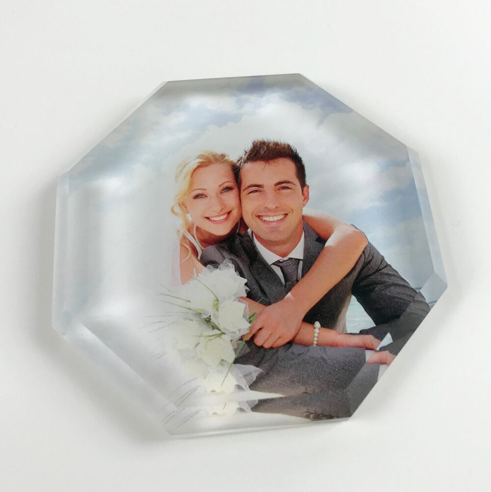 Wedding Invite Paperweight, Personalized Gift, Photo Glass Remembrance Memorial, Anniversary Gift