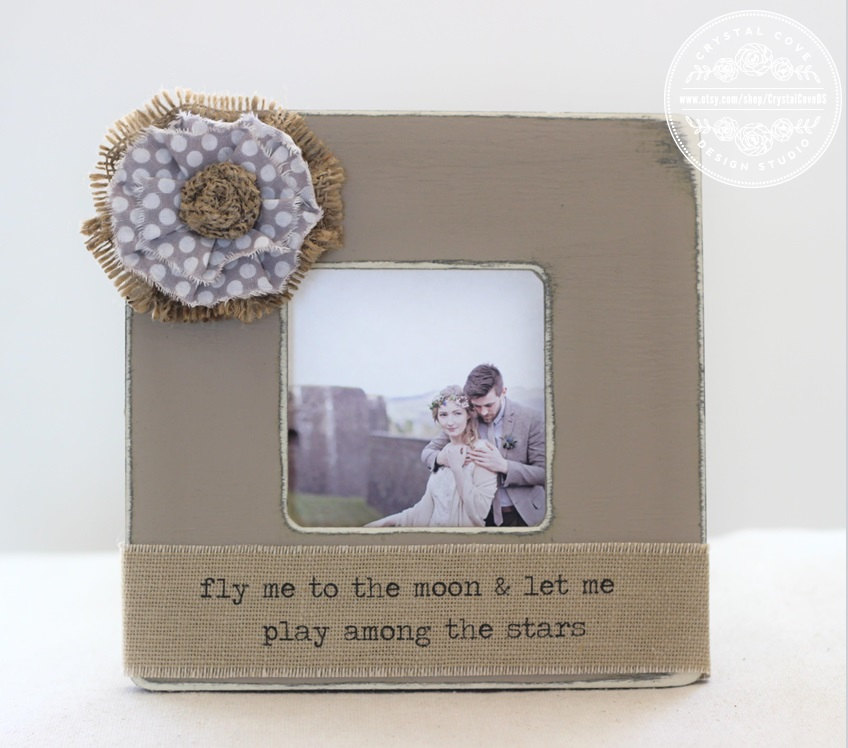 Wedding Personalized Picture Frame Gift Romantic Lyrics Frank Sinatra Fly Me To The Moon