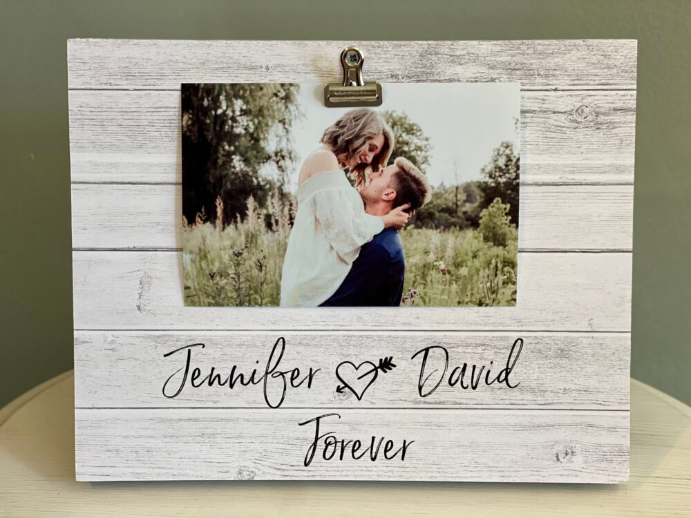 Personalized Love Photo Frame | Engagement Gift Custom/Personalized Picture With Names Anniversary