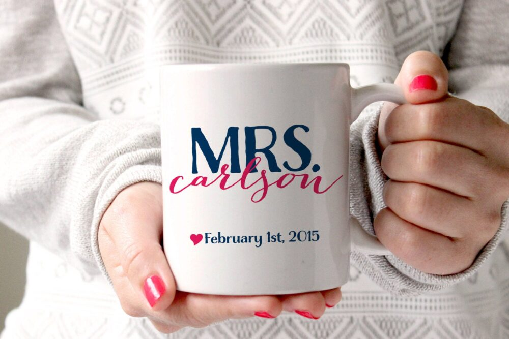 Personalized Coffee Mug -Mrs. With Special | Perhaps Wedding Date