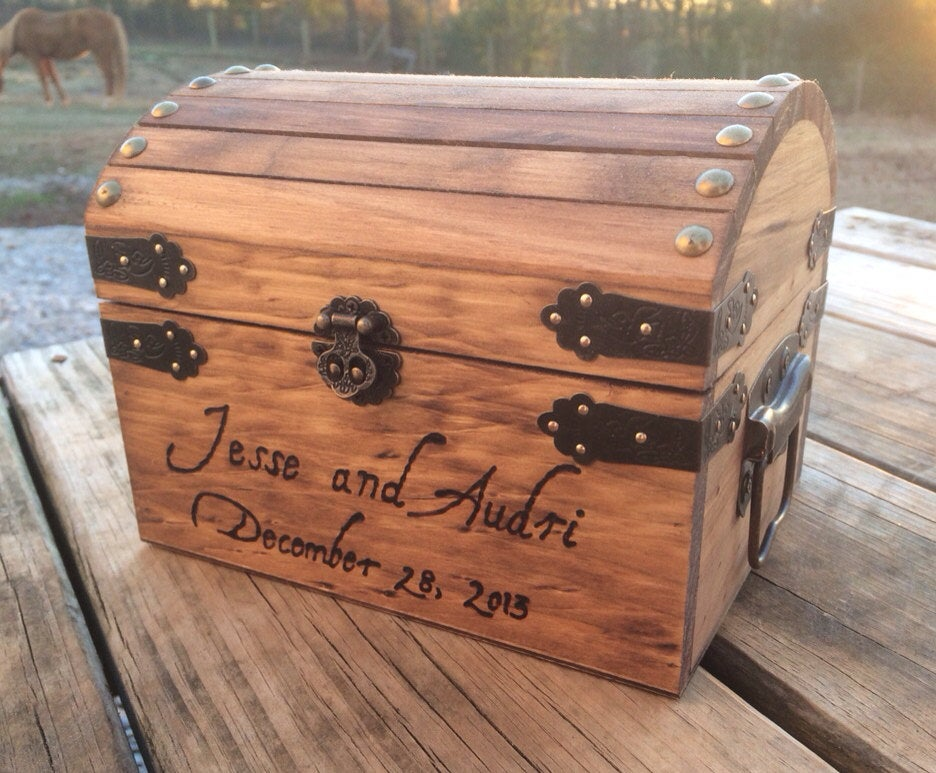 Shabby Chic Wedding - Rustic Wooden Card Box Decor Advice Holder