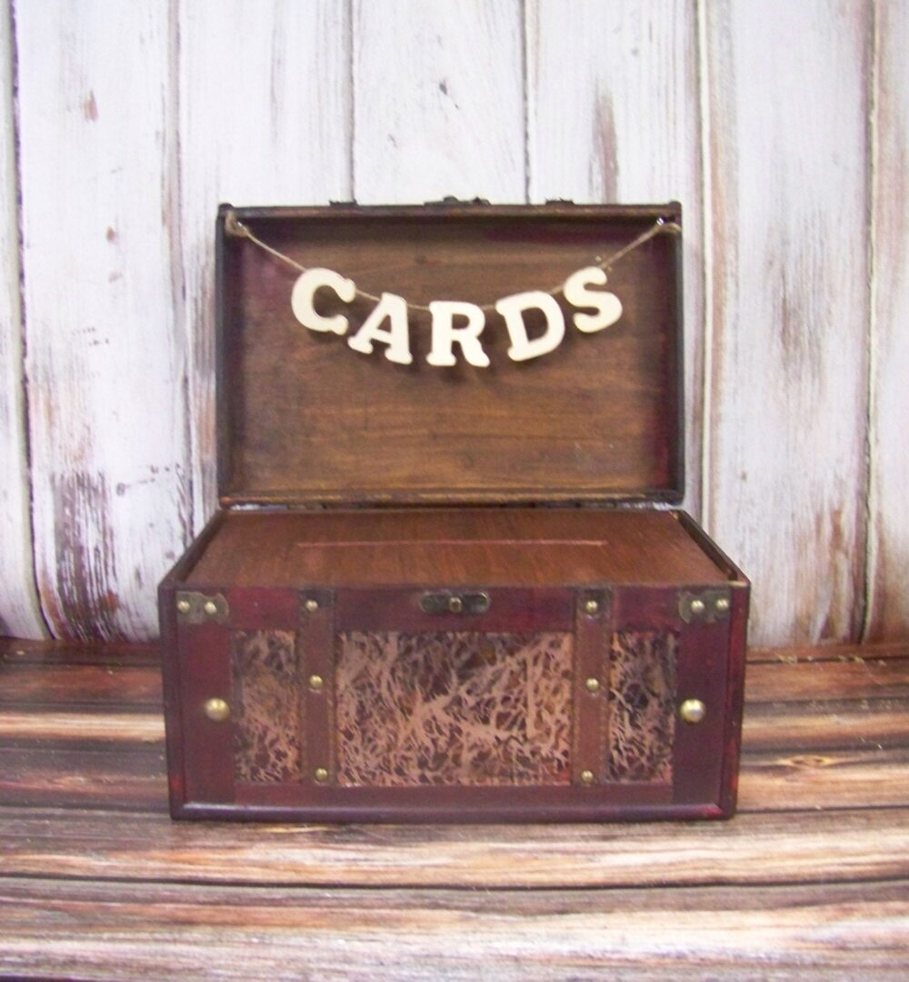 Wedding Card Box With Banner-Rustic-Shabby Chic-Advice