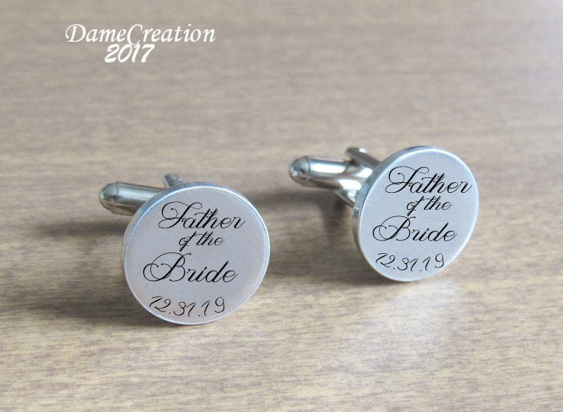 Cuff Links, Custom Cufflinks, Wedding Father Of The Bride, Dad Gifts, Personalized Gift, Groom