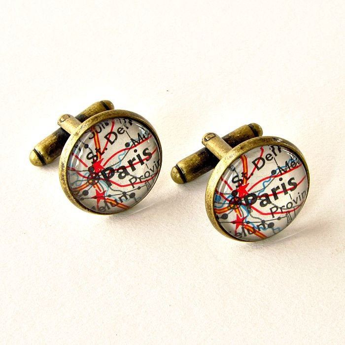 Personalized Map Cufflinks, Wedding Unique Groomsmen Gifts, Travel Themed Gifts