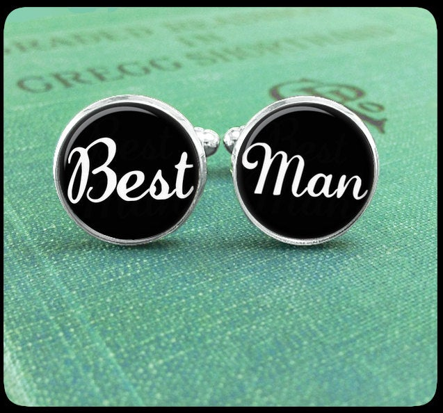 Wedding Party Gift, Best Man Cufflinks, Custom Cuff Links, Personalized Gift For