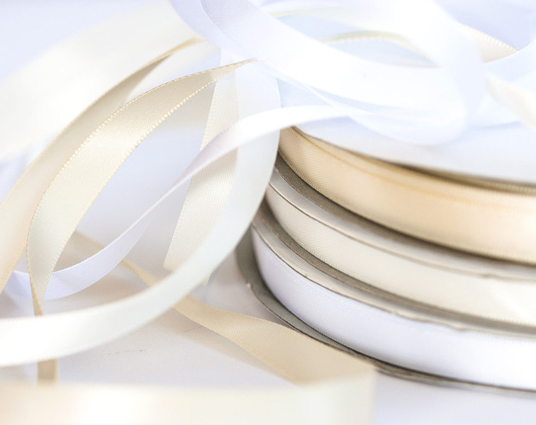 Silk Ribbon 10 Mm 3/8 Inch Satin White Satin Double Faced Ribbon Double Side Face 10M 1094