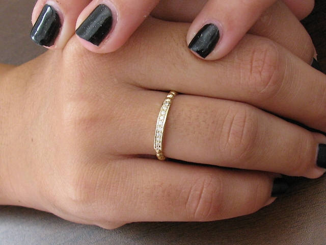 Rose Gold Engagement Ring, Wedding Promise Solid 14K, Anniversary Ring