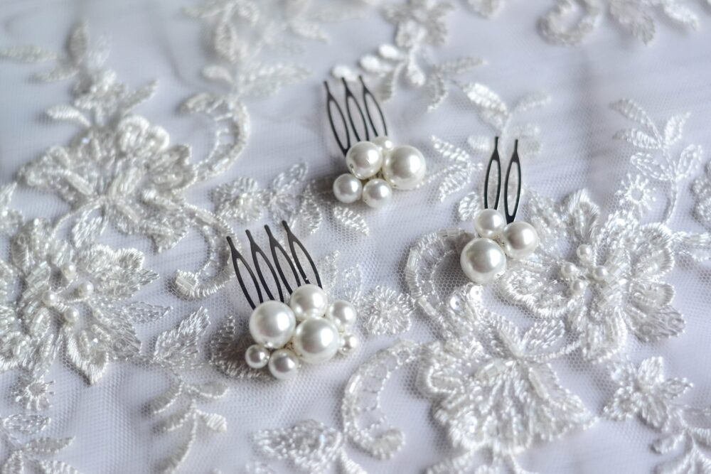 Small Pearl Wedding Hairpins, Wedding Pearl Hairpins Of Various Sizes, Bride's Comb, Comb