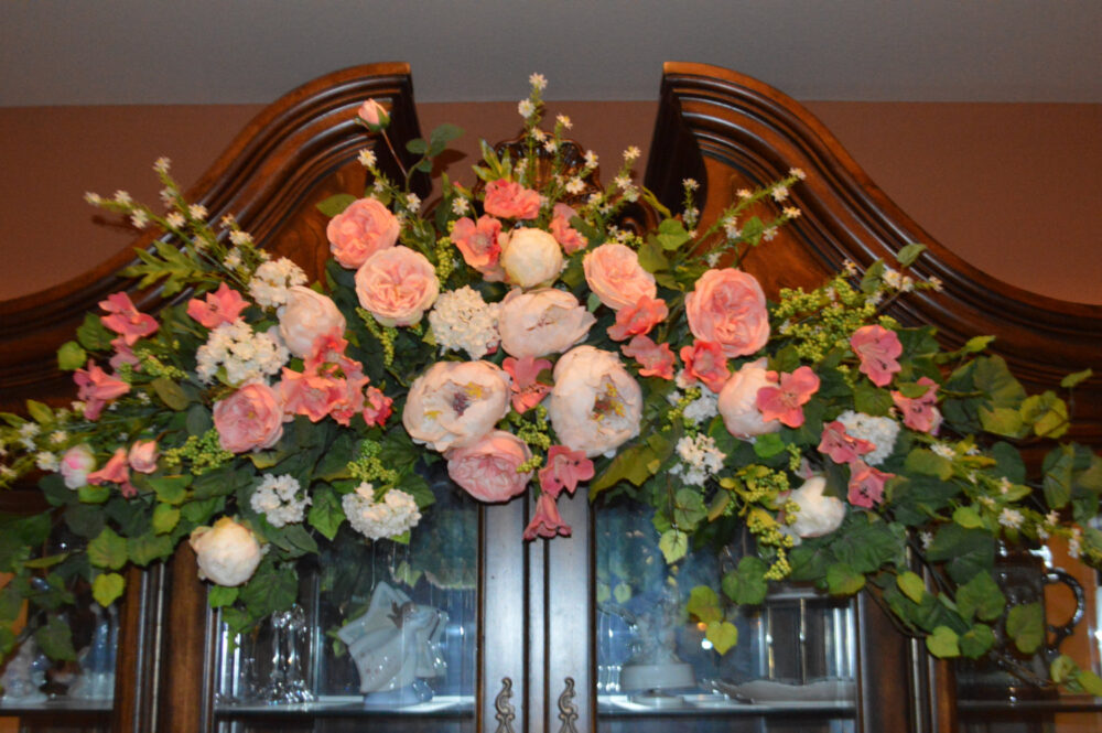 Wedding Arch, Archway Swag, Ceremony Church Pink Large Arch Xl Swag