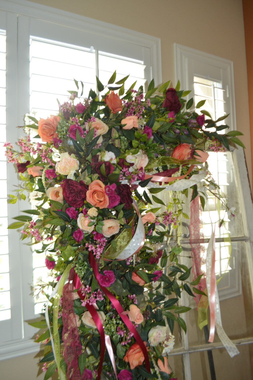 Wedding Arch, Archway Swag, Ceremony Arch Flowers, Peony Rose Arch, Peony Mantle Swag