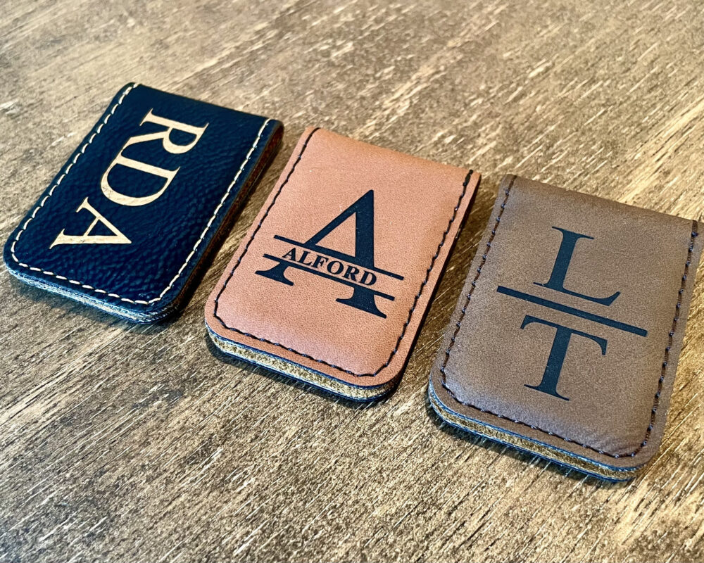 Personalized Money Clip, Leather Money Clip, Groomsman Gift, Groomsmen Gifts, Leather Wallet, Personalized Gift For Him