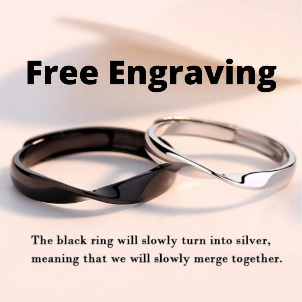 925 Sterling Silver Color Change Couple Ring, Moon & Sun Fits All Size Promise Ring Set, For Couple, Rings