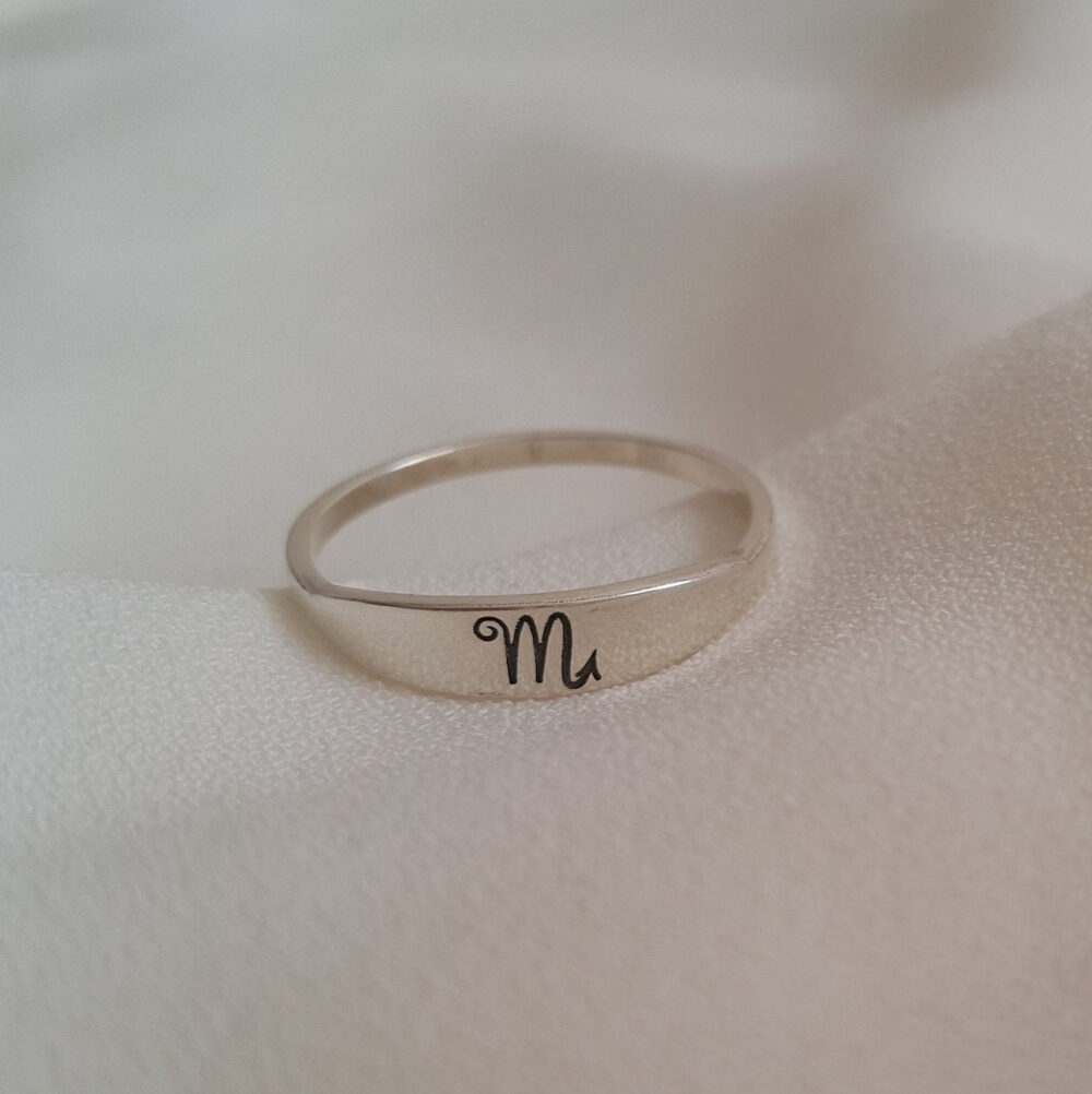 Zodiac Ring By Magicalminimalist • Custom Jewelry in Sterling Silver, Gold & Rose Gift For Mom •mother's Day