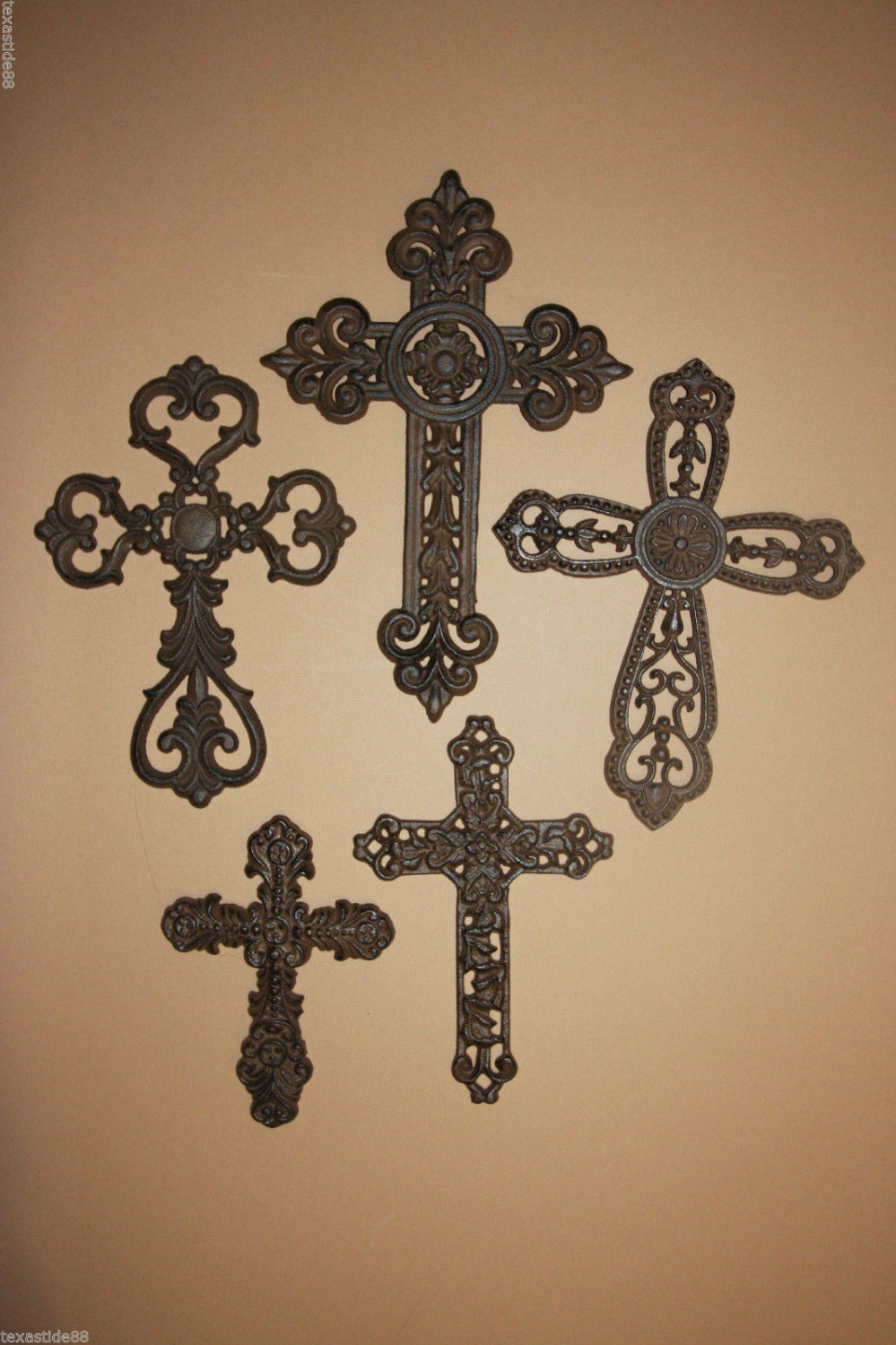 5 Perfect Valentines Day Gift To Decorate The Home With Cast Iron Cross Decor, Ready Paint, Free Ship Rustic Religious Mothers Gift