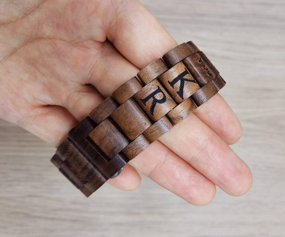 Fitbit Versa 2 Wood Band, Personalized Engraved Wooden Band For Versa, Vera Lite, Ionic, Blaze