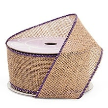 Purple/Natural Iridescent Burlap Ribbon - 2-1/2 X 10 Yards - Metallic - Embellishments & Trims by Paper Mart
