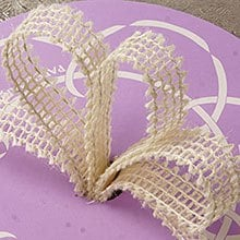 Mesh White Wired Burlap Ribbon - 7/8 X 25yd - Embellishments & Trims by Paper Mart