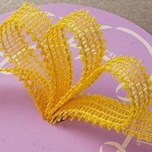 Mesh Yellow Wired Burlap Ribbon - 7/8 X 25yd - Embellishments & Trims by Paper Mart