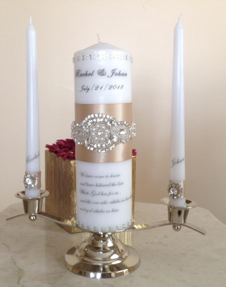Wedding Unity Candle Ceremony Candles Blue Candle Blue Set Wedding Unity Candles Set Personalized