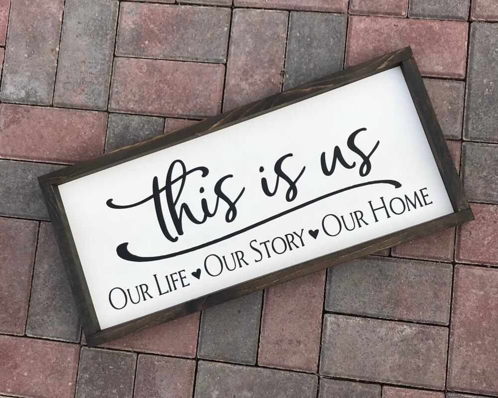 This Is Us, Rustic, Farmhouse Sign, Wedding Gift, Family, Marriage, Country Wood Signs, Decor, Home Gift For Her
