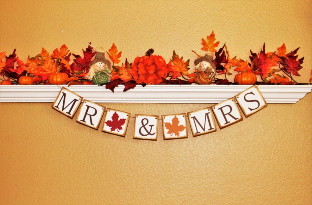 Fall Wedding Decoration, Fall Wedding Banner, Sign, Bridal Shower Decoration, Bride To Be Banner & Engagement