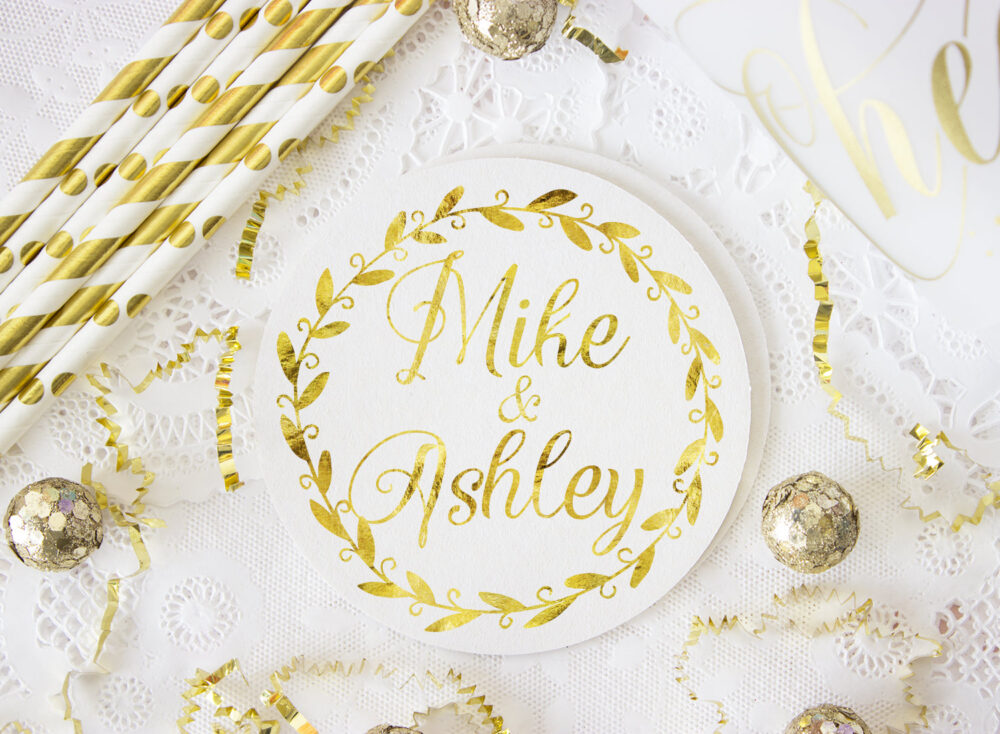 Rustic Wedding Favor, Coaster, Personalized Coasters, Party Custom Drink Bar Favors
