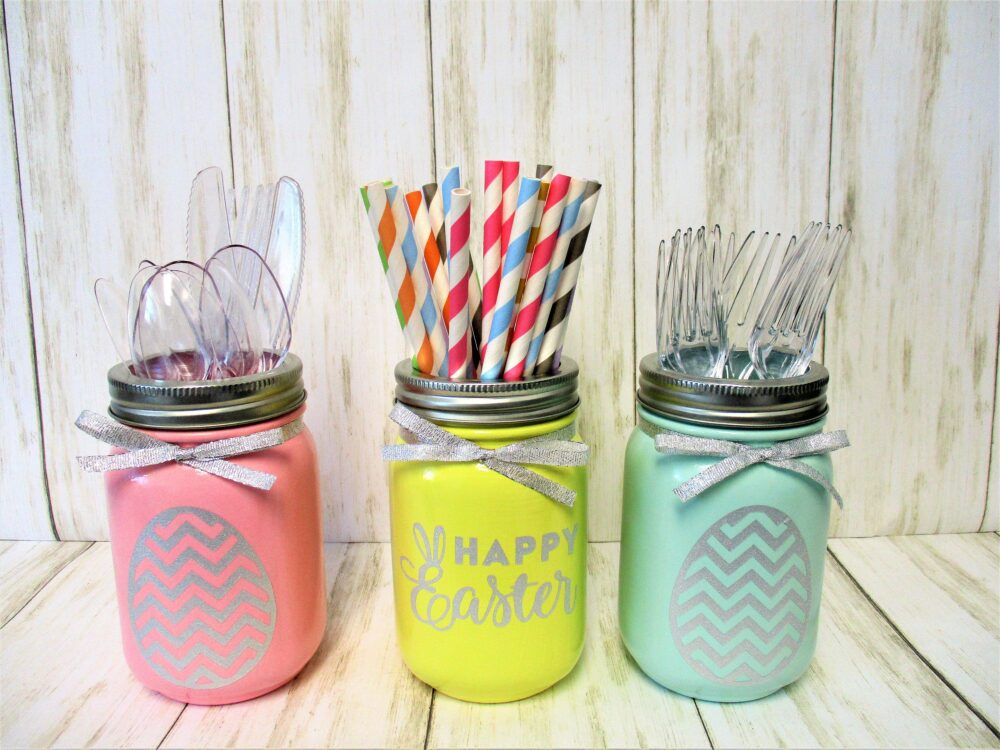 Easter Mason Jar Decoration Centerpiece, Party Decorations, Decor
