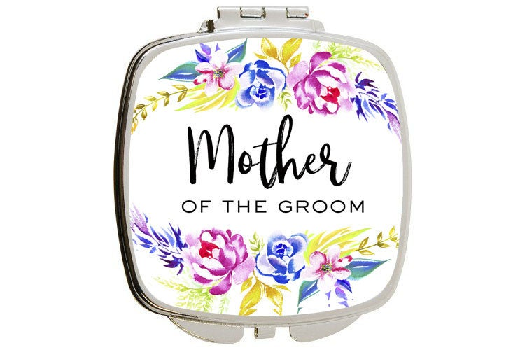 Wedding Gifts For Mother in Law Or Gift Of The Groom Bride Bridal Custom Personalized Compact Mirror