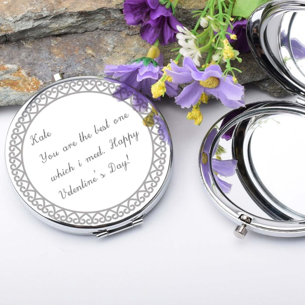 Wedding Party Gift Compact Mirror Personalize Engraved Pocket Mirror - Maid Of Honor Bridesmaid Compact Mirror- Bulk