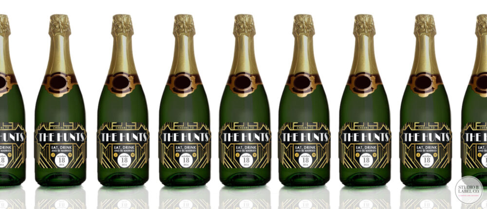 Gatsby Mini Champagne Label Wedding Favors - 1920S Party Stickers Favor Labels Set Of 9 Bulk
