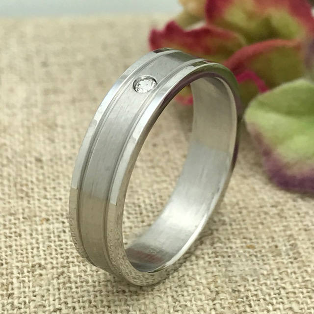 5mm Personalized Stainless Steel Wedding Band, Custom Engraved Ring, Promise Couples Purity Ssr622
