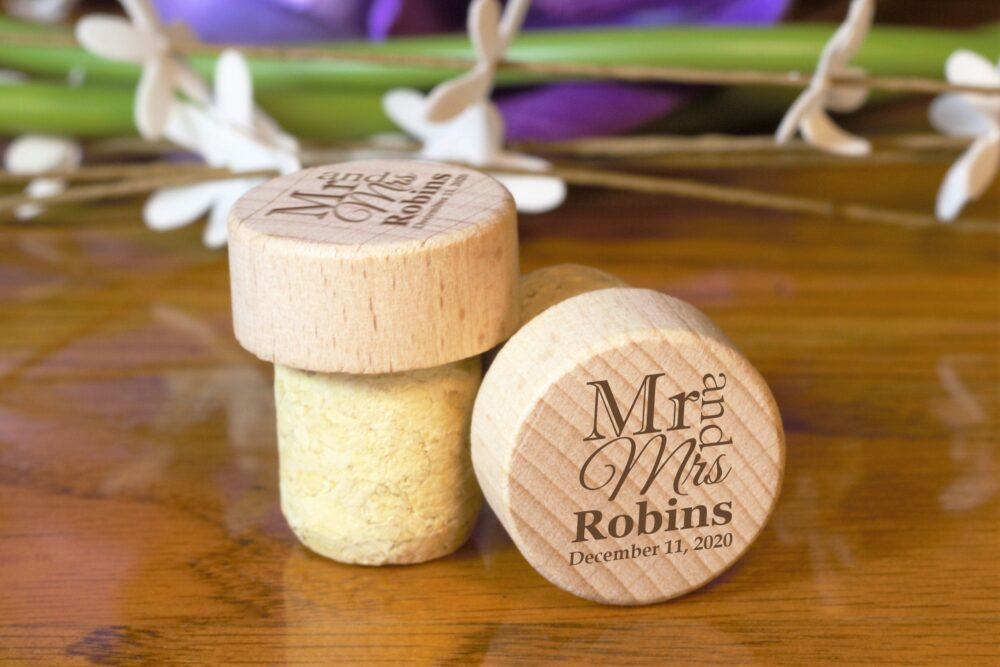 Wedding Party Favor, Favors For Guest in Bulk, Anniversary Gift, Thank You Guest, Personalized Wine Cork, Custom Favor