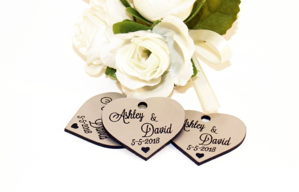 Wedding Favor, Tags, Favor Silver Silver Favors, Hearts, Custom Tags Favors