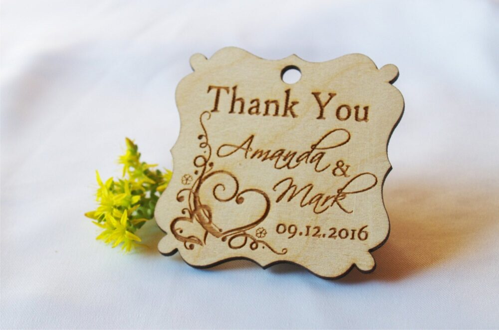 Wedding Tags-Wedding Favor-Wedding Favor Tags-Gift Rustic-Gift Tags-Custom-Custom Tags-Wooden Tags-Thank You