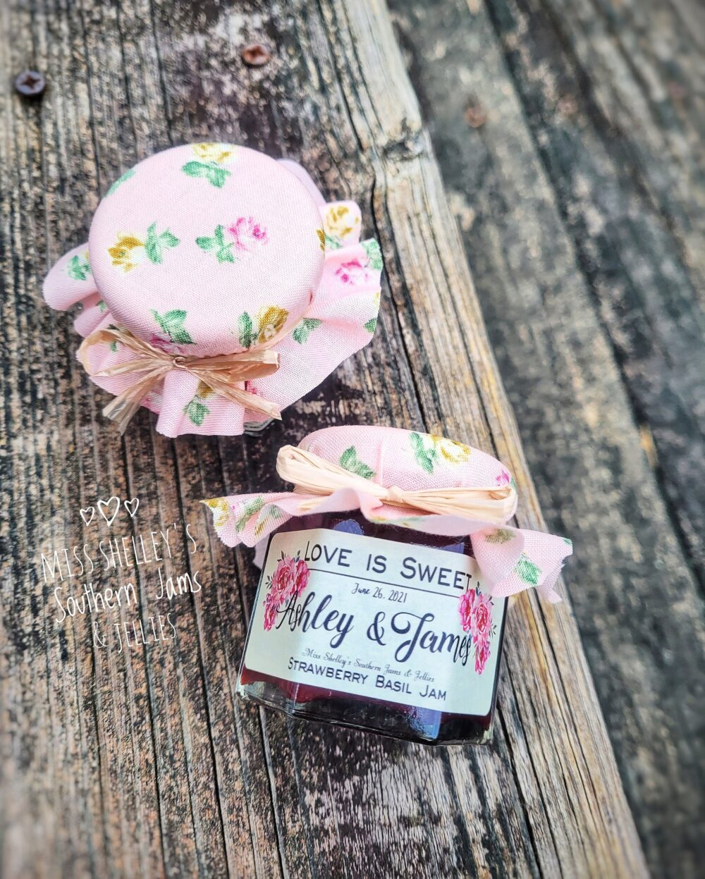 120 | 1.5Oz Mini Jam Wedding Favors, Vintage Floral Boho Rustic Burlap Personalized Edible Favor