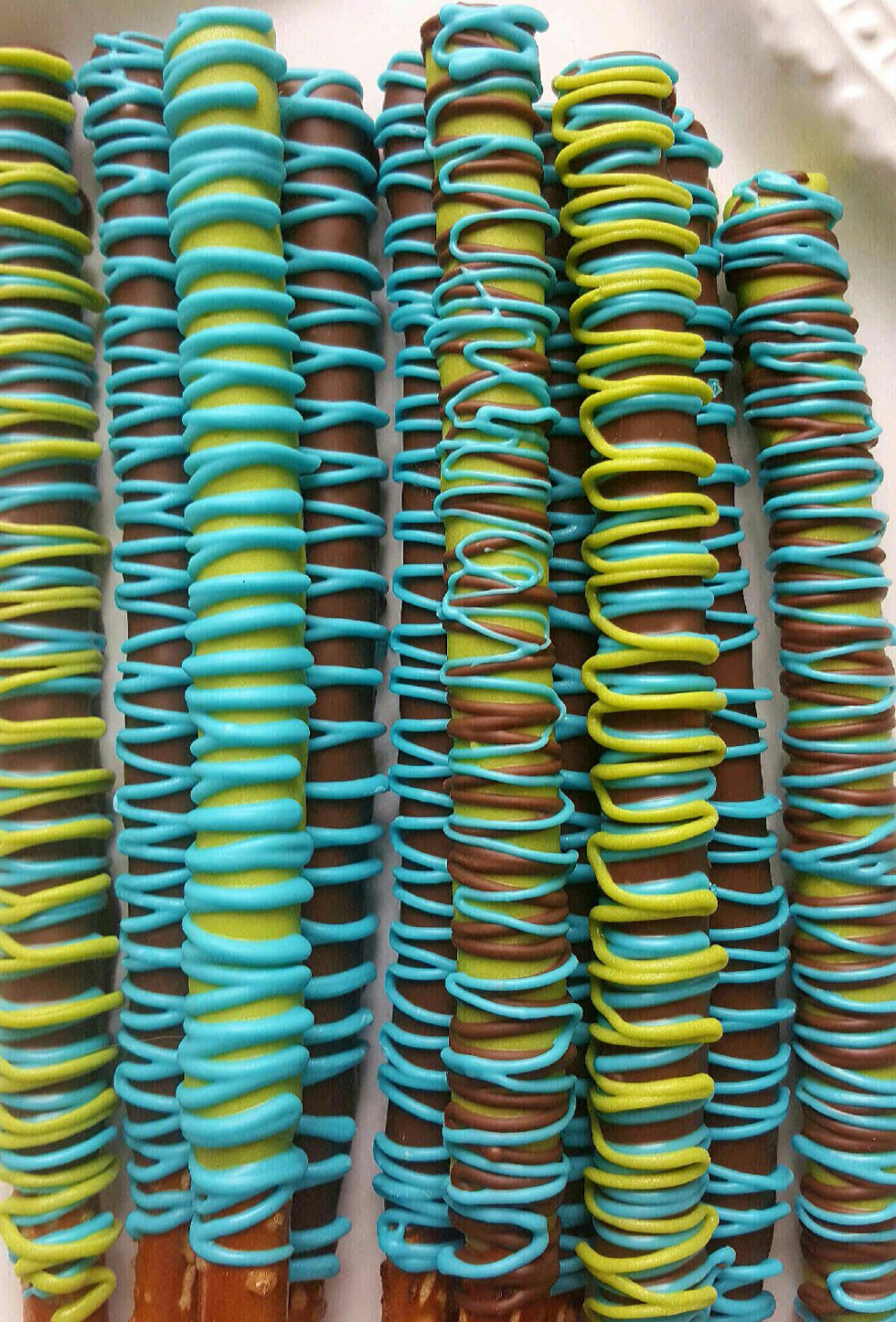 Gourmet Milk Chocolate Covered Pretzels Rods Party Favor Baby Shower Communion Anniversary Wedding Bridal Graduation Corporate Fathers Day