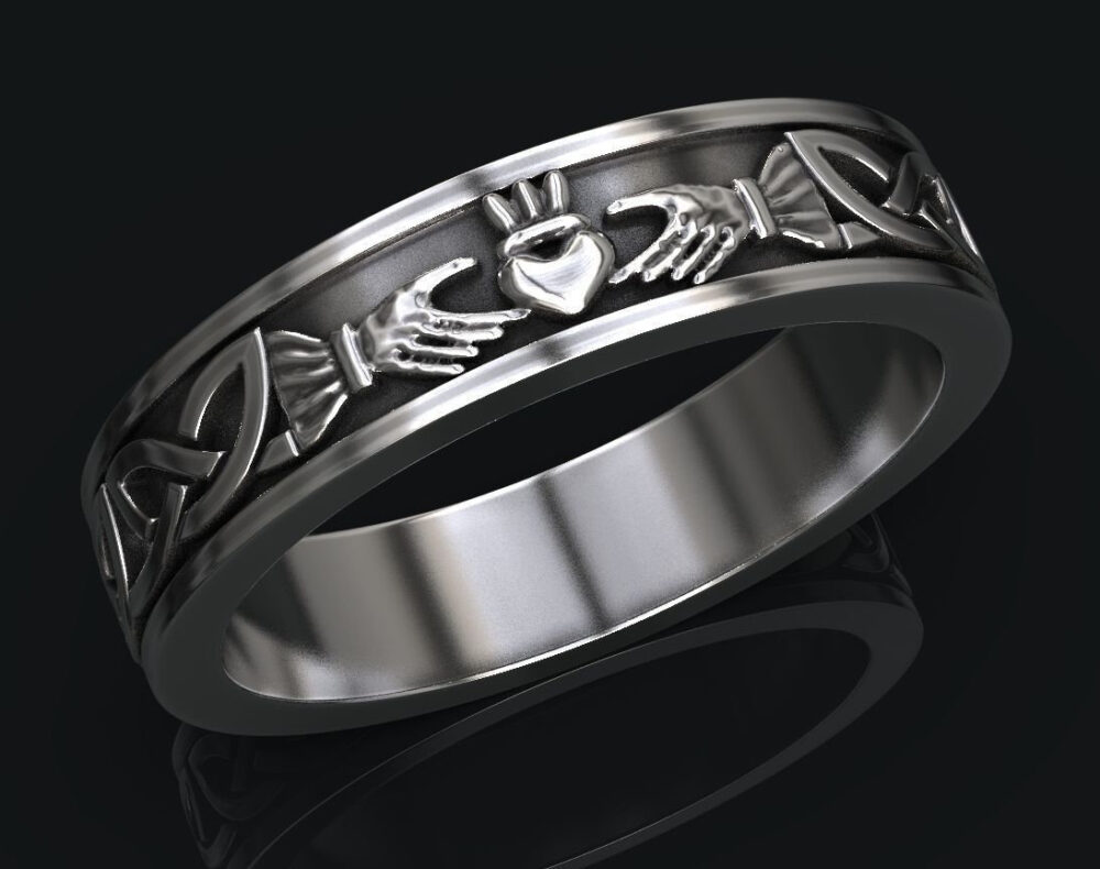 Claddagh Ring, Irish Celtic Wedding Band, His & Hers Rings