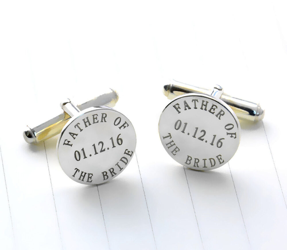 Personalized Wedding Cufflinks, Father Of The Bride Cufflinks, Personalized Groom Cufflinks With Any Date, Engraved Cufflinks, Men Gift C013