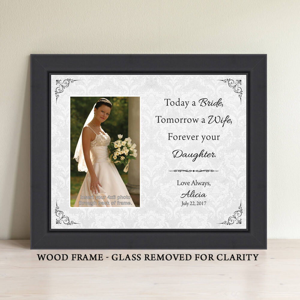 Parents Wedding Gift, Of The Bride, Father Bride Mother Thank You Personalized Picture Frame