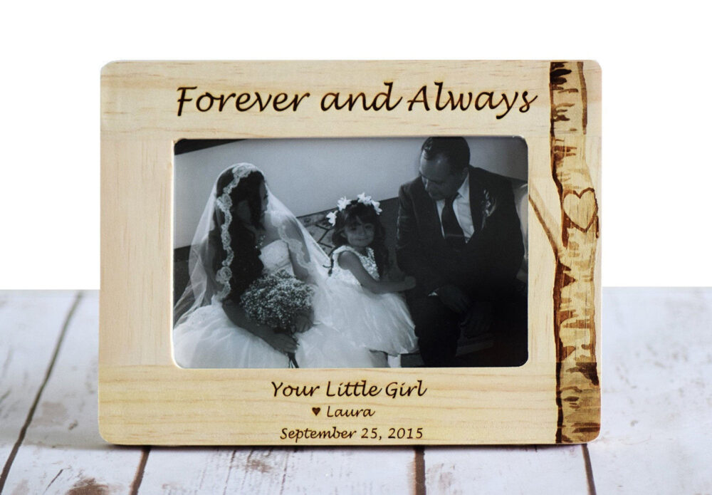 Father Of The Bride Gift, Wedding Picture Frame, Father Bride Parent Gift, Personalized Dad Gift, Engraved