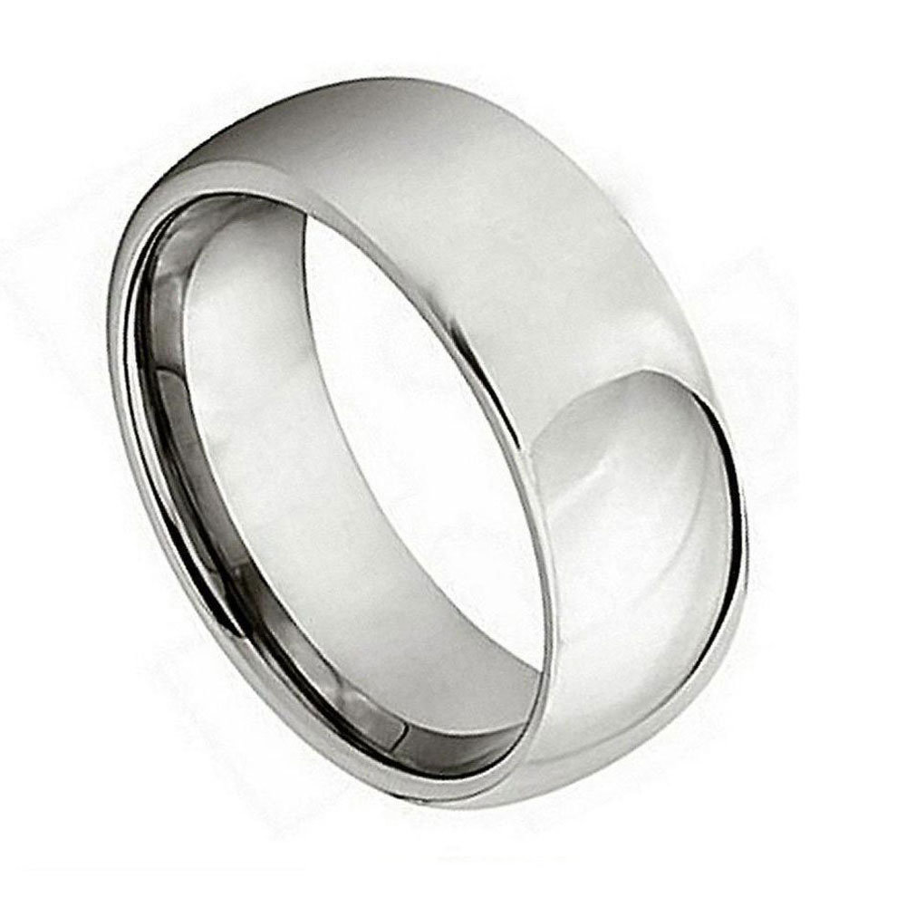 Custom Engraving 7mm Titanium Band Polished Shiny Domed Ring/Gift Box Ship From Usa(Jdti265