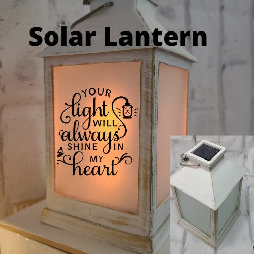 Rustic Lantern Personalized Memorial Centerpiece For Loss Of Loved One Solar Lantern Gift Wedding Decor Rustic