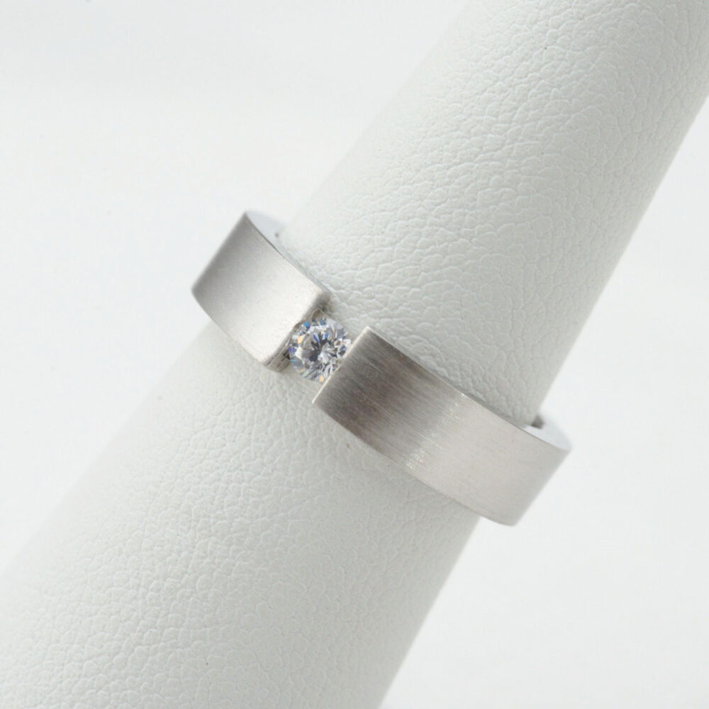 Wedding Band.hers. 925 Sterling Silver. Comfort Fit. 5 Mm Cz Band. Usa Made. #340